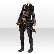 (Tops) Pure Crystal Military Style ver.A black