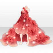 (Tops) Valentine's Day Airy Rose Dress ver.A red