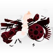 (Hand Accessories) Punk Battle Machine Gun ver.A red