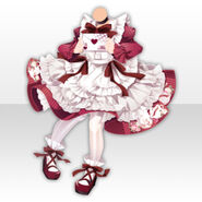 (Tops) Alice Fantastic Apron Dress ver.A red
