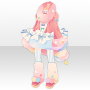 (Tops) Night Dress Party Fluffy Style ver.A pink