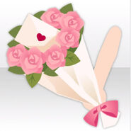 (Hand Accessories) Handheld Bouquet with Love Letter ver.A pink