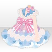 (Tops) Big Ribbon & Whip Cream One-Piece ver.A blue