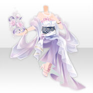 (Tops) Flowery Long Dress ver.A purple