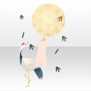 (Avatar Decor) Red Crowned Crane and Full Moon ver.A yellow