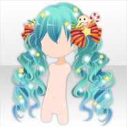 (Hairstyle) Halloween Star Twin Tails Hair ver.A blue