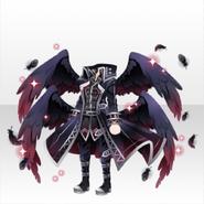(Tops) Fallen Feather Dark Angel King Top ver.A black