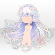(Hairstyle) Glass Luxury Wavy Long Hair ver.A white