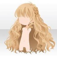 (Hairstyle) Side Braided Wavy Long Hair ver.A yellow