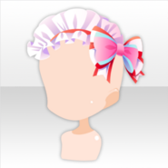 (Head Accessories) Pop Waitress Bow on Frilled Headband ver.A white