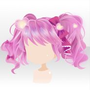 (Hairstyle) Magical Girl Fluffy Bunches Hair ver.A pink