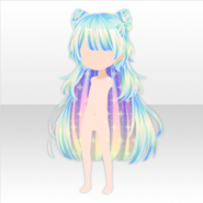 (Hairstyle) Virtual Planet Antenna Long Hair ver.A green