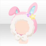 (Head Accessories) Kawaii★Star Big Rabbit Hat ver.A pink