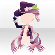 (Head Accessories) Sakura Mad Hatter Hat and Cape ver.A purple