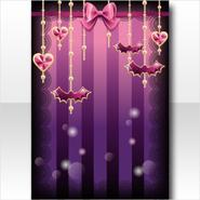 (Wallpaper Profile) Cute Devil Bat Charms Wallpaper ver.A purple