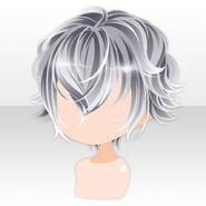 (Hairstyle) Lavshuca Demon Short Hair ver.A white