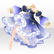 (Tops) Wishly Starlit Sky Dress ver.A blue
