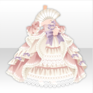 (Tops) Classic Rococo Dress FAn and Frilled Long Dress ver.A pink