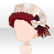 (Head Accessories) Snow Land Romantic Hat ver.A red