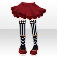(Pant&Skirt) Circus Girl Socks and Skirt ver.A red