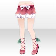 (Pant&Skirt) Princess Lace Up Pumps ver.A pink