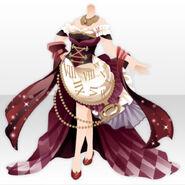 (Tops) Talented Clock Corset Dress ver.A red