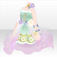 (Tops) Floral Elf Mini Dress ver.A pink