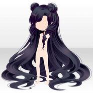(Hairstyle) Starry Moon Princess Hair ver.A black