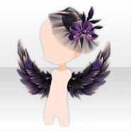 (Head Accessories) Underworld Wing & Cocktail Hat ver.A purple