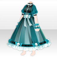 (Tops) Ghost Night Horror House Maid Style ver.A green