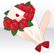 (Hand Accessories) Handheld Bouquet with Love Letter ver.A red