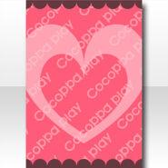 (Wallpaper Profile) Simple Big Heart Wallpaper ver.A pink