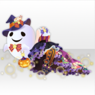 (Tops) Witch Style with Ghosts ver.A purple