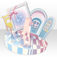 (Back Accessories) Pop up Magical Room ver.A white