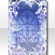 (Wallpaper Profile) Feathers & Birdcage Frame World ver.A blue