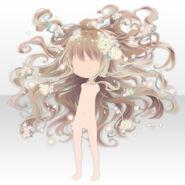 (Hairstyle) Floracion Princess Full Bloom Hair ver.A brown