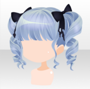(Hairstyle) Hollow Park Rolled Ribbon Bunches Hair ver.A blue