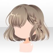 (Hairstyle) Phantom Side Braided Bob Hair ver.A brown