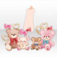 (Avatar Decor) Surrounded by Teddies! ver.A red