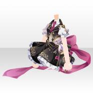 (Tops) Night Phantom Partner Ribbon Dress ver.A black
