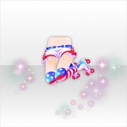 (Pant&Skirt) U.S. Cheerleader Jumping Roller Blade ver.A blue