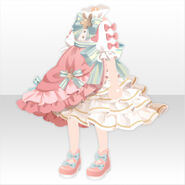 (Tops) Champignon Frilled Long Dress ver.A pink
