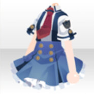 (Tops) Elisa's Pleated Skirt Tops with Cute Tie ver.A blue