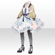 (Tops) Fontana Flower Chiffon Dress ver.A blue