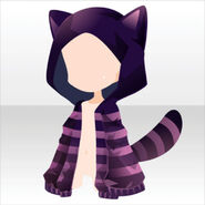 (Head Accessories) Cheshire Cat Hoodie ver.A brown