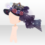 (Head Accessories) Hollow Park Gorgeous Merry-Go-Round Hat ver.A purple