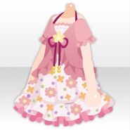 (Tops) Cardigan on Flower One-Piece ver.A pink