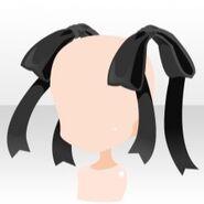 (Head Accessories) Undercore Big Ribbon ver.A black