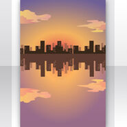 (Show Items) Sunset Buildings reflecting on Water Stage ver.1