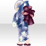 (Tops) Summer Festival Yukata Girl Style ver.A blue